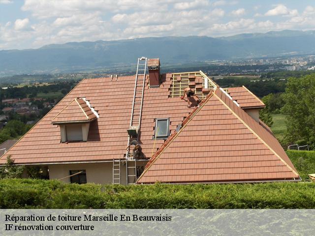 Réparation de toiture à Marseille En Beauvaisis tél: 03.59.28.30.82
